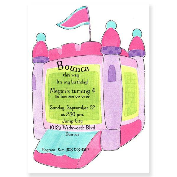 Bounce Birthday Party Invitation Wording