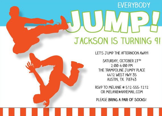 Bouncy Party Invitations Templates Word