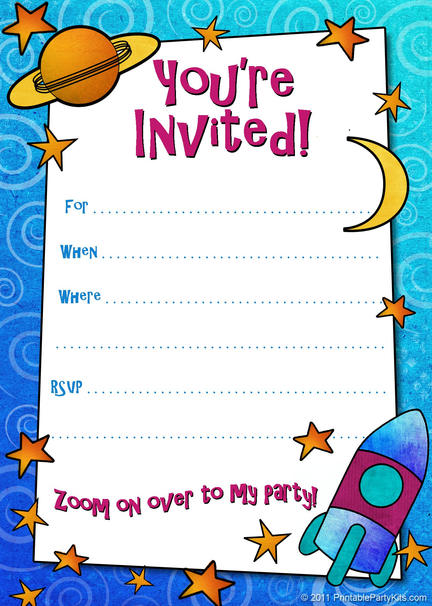 Boys Birthday Invitations To Print