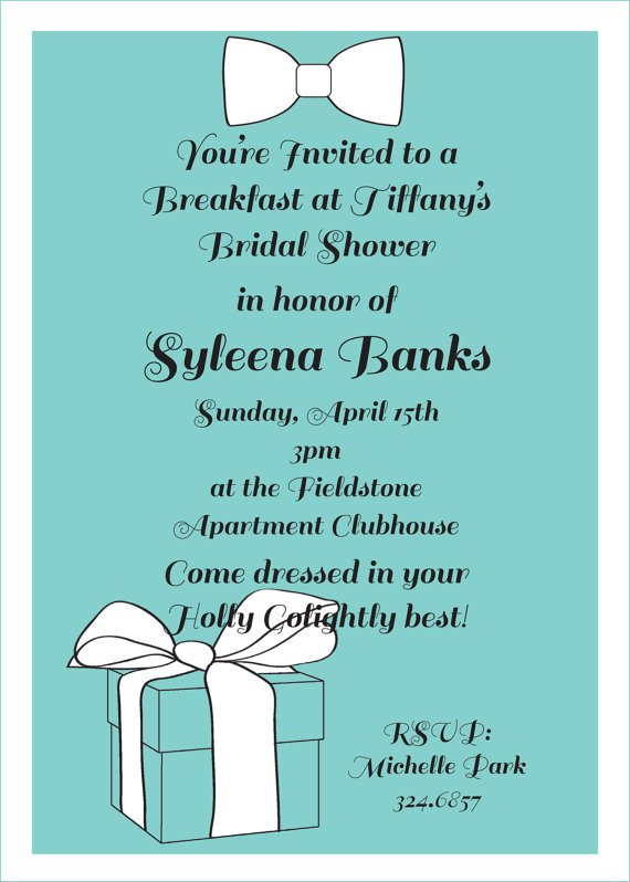 Breakfast Party Invitation Wording