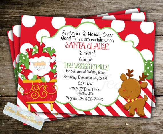 Breakfast With Santa Invitation Ideas