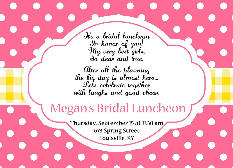 Bridal Brunch Invitations