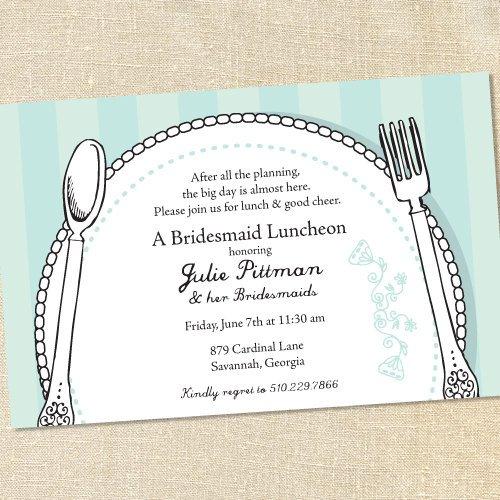 Bridal Brunch Invitations Template