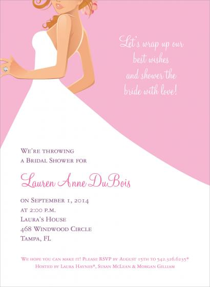 Bridal Lunch Invitations for awesome invitations example