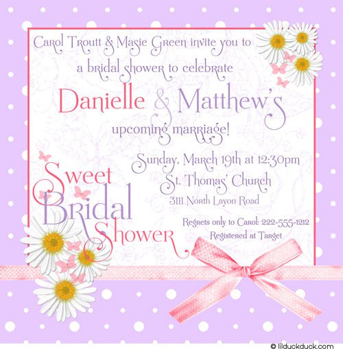 Bridal Shower Invite Etiquette Bridal Shower Invitation Wording