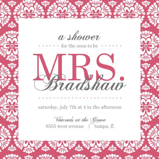 Shower Invitations Templates – Wedding Shower Invitation Templates