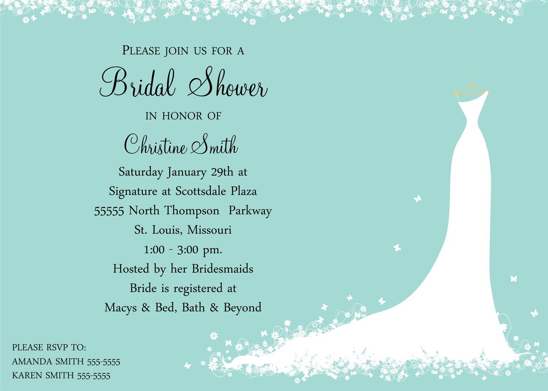 Bridal Shower Invitations Templates Microsoft Word
