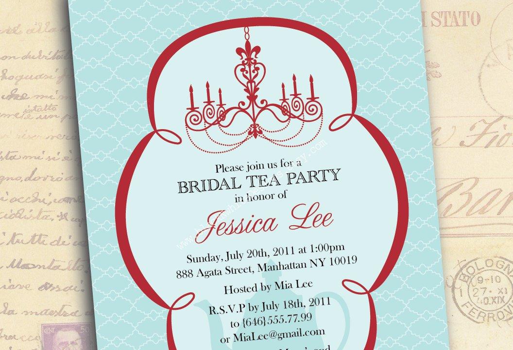 Bridal Tea Party Invitations Wording