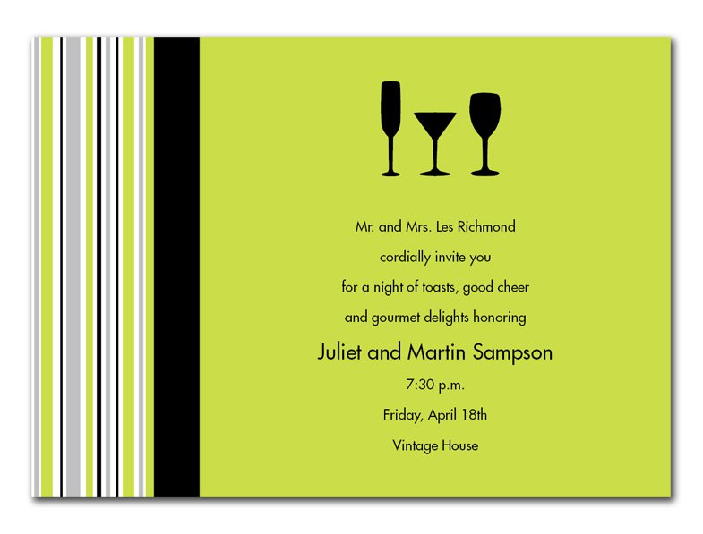 Business Cocktail Reception Invitation Wording