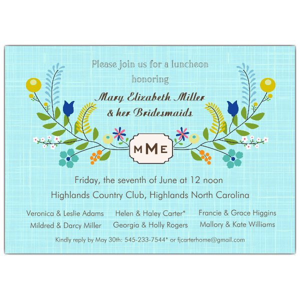 Business Luncheon Invitations
