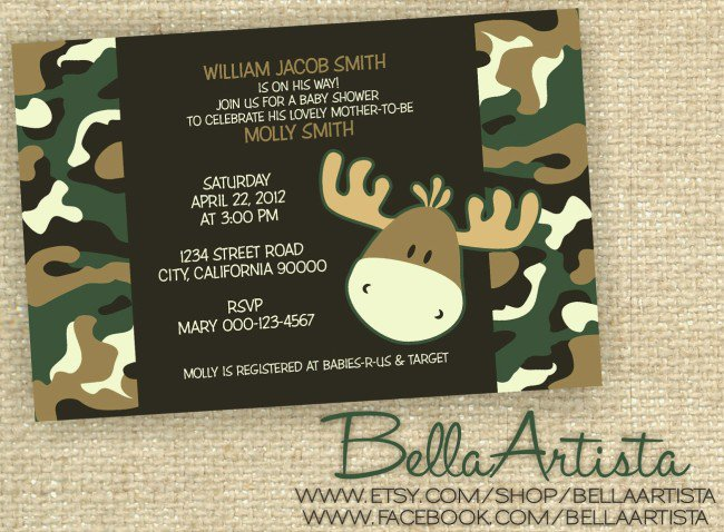 Camouflage Invitations Template Free