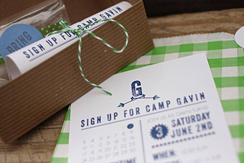 Camping Birthday Party Invitation Templates