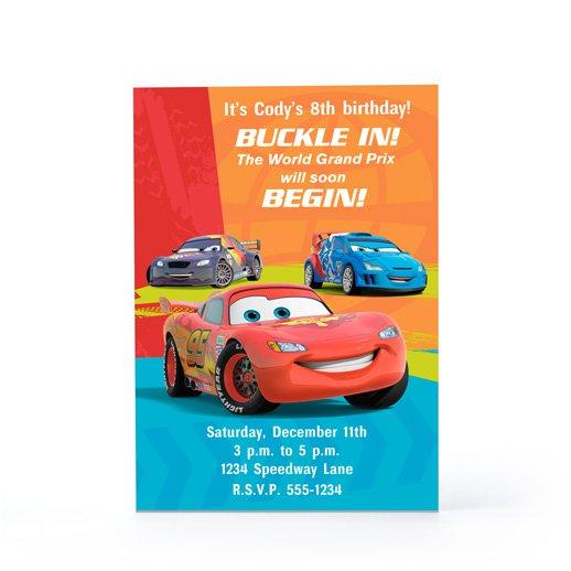 Cars Birthday Invitation Layout