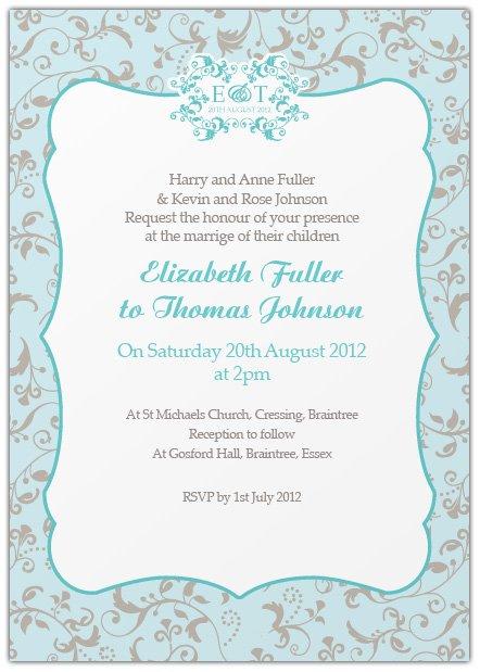 Casual Wedding Invitations Wording
