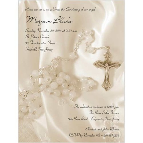 Catholic Baptism Invitations In Spanish