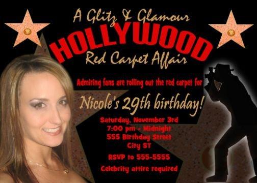 Celebrity Birthday Party Invitations