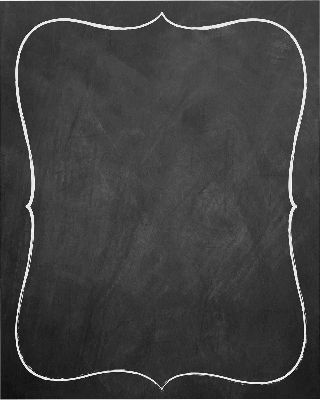 Chalkboard Invitation Templates Blank