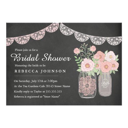 Chalkboard Style Bridal Shower Invitations