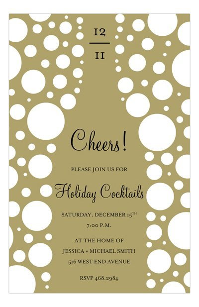 Champagne Party Invitations Templates