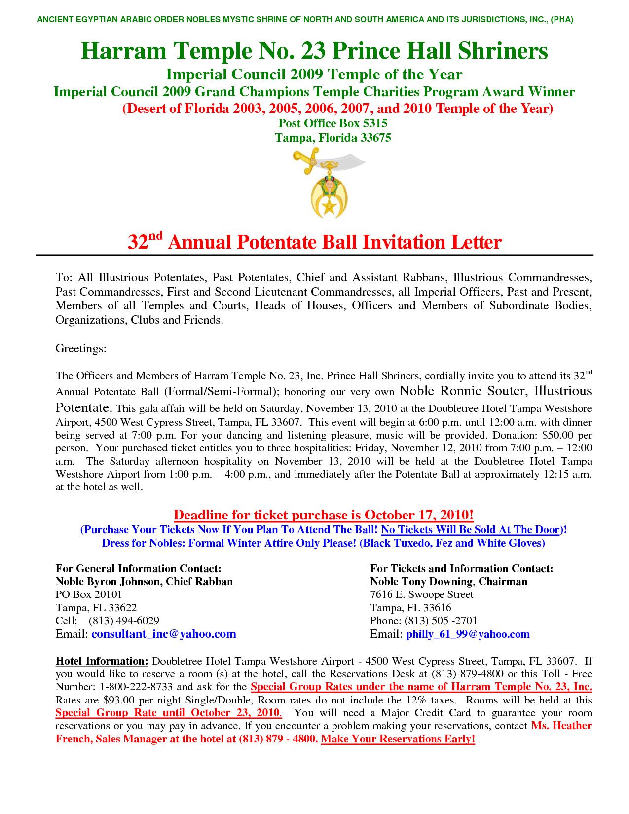 Charity Gala Invitation