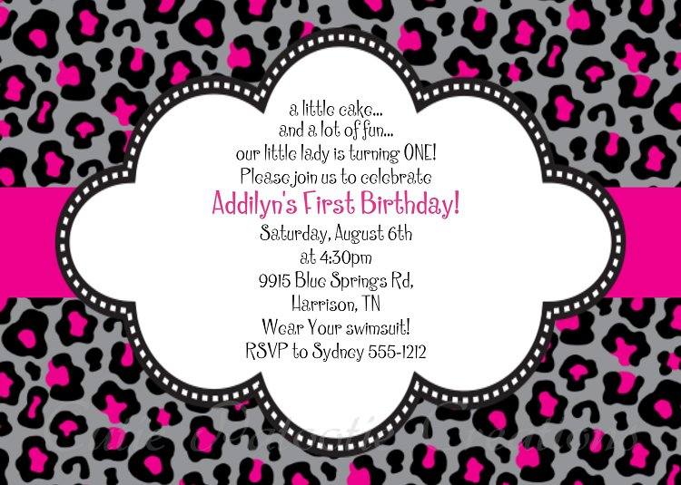 cheetah print invitations free, Birthday invitations