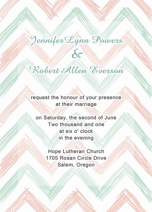 Chevron Wedding Invitations Free