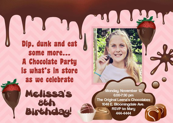 Chocolate Party Invitation Template
