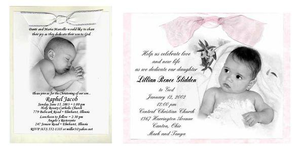 Christening Invitation Cards Free Printable