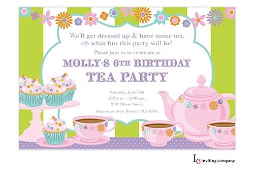 Christian Tea Party Invitations
