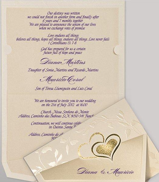 Christian Wording For Wedding Invitations: Christian Wedding Invitation Wording
