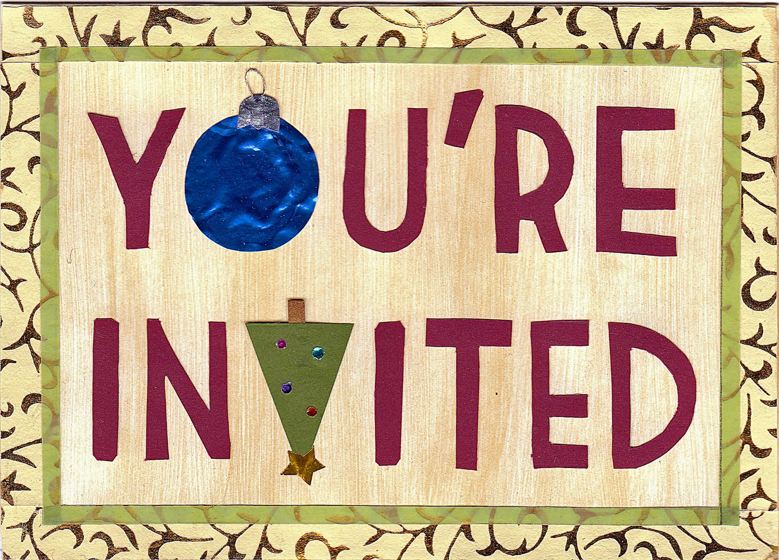 Christmas Day Dinner Invitation Wording