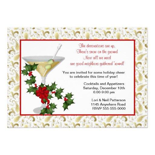 Christmas Holiday Invitation Wording