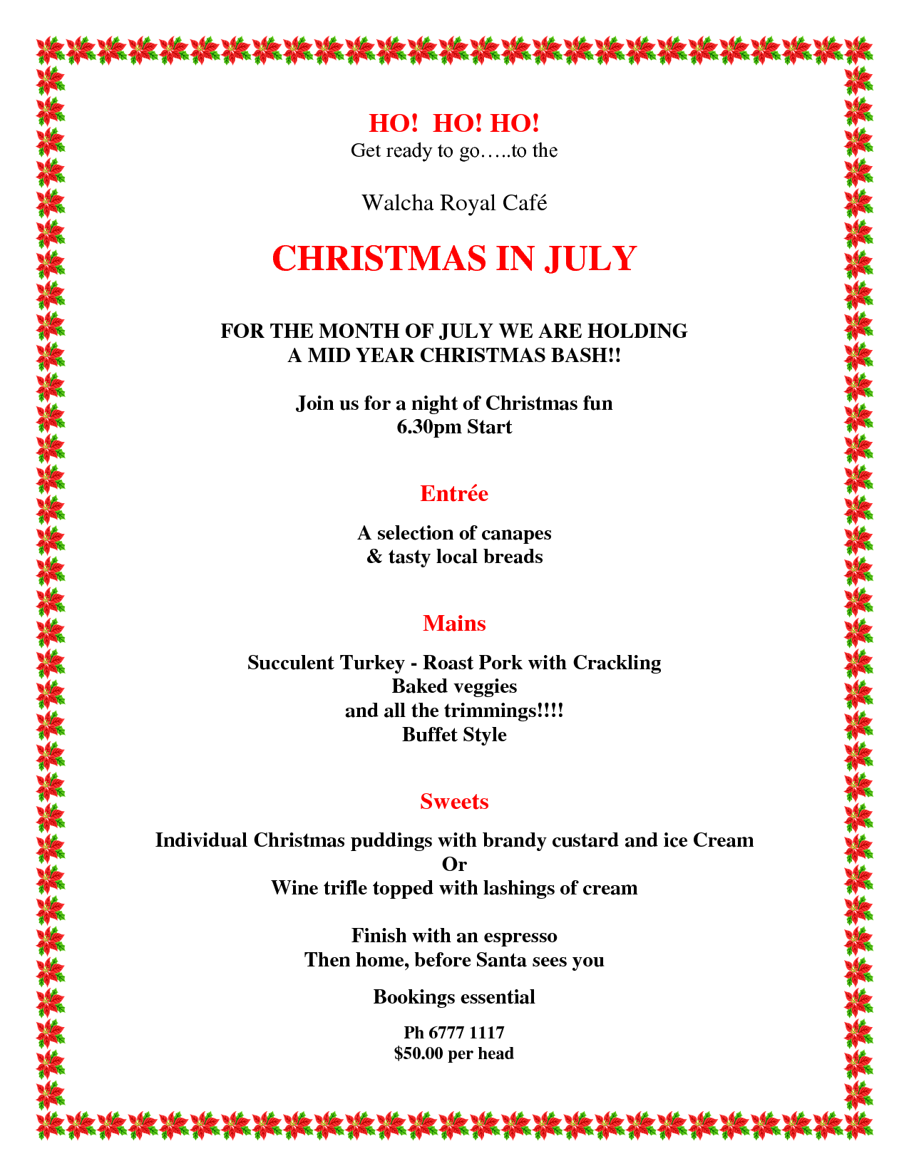 Christmas In July Invitations Free