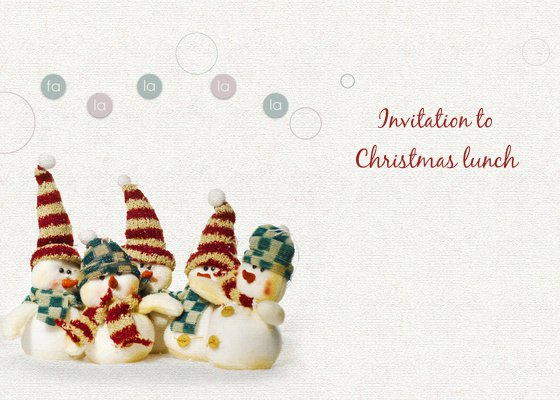Christmas Lunch Invitation Templates