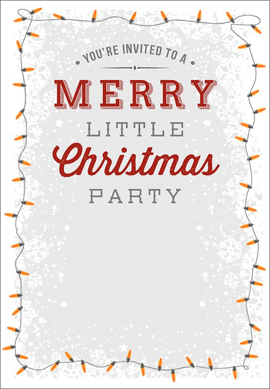 Christmas Party Flyer Invitation Printable