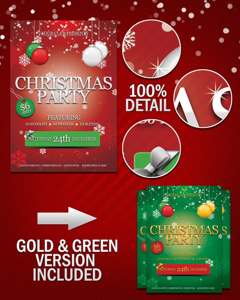 Christmas Party Invitations To Download