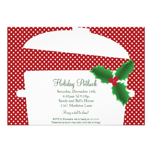 Christmas Potluck Invitation