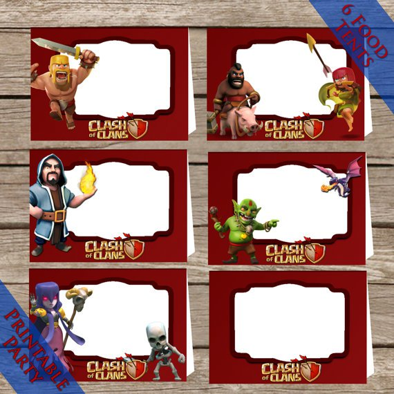 Clash Of Clans Party Invitations Printable