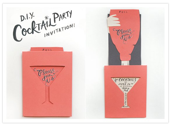 Classic Cocktail Party Invitations