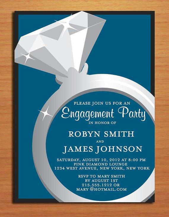 Classy Engagement Invitations