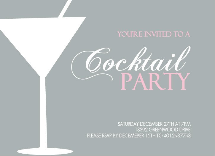 Cocktail Party Invitation Templates – Cocktail Party Invitation Template