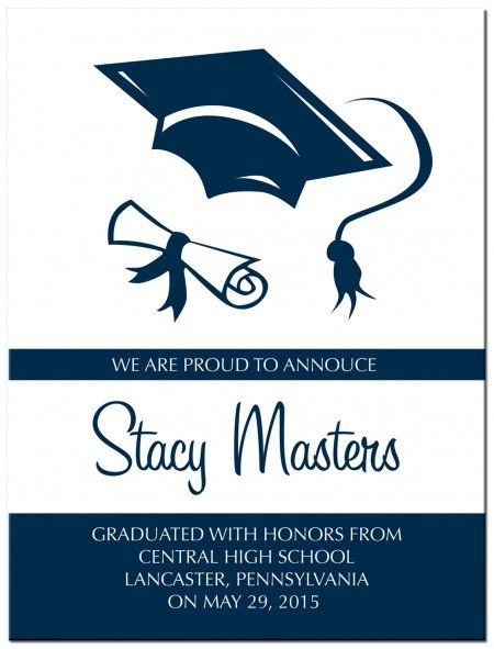 College Graduation Invitation Cards