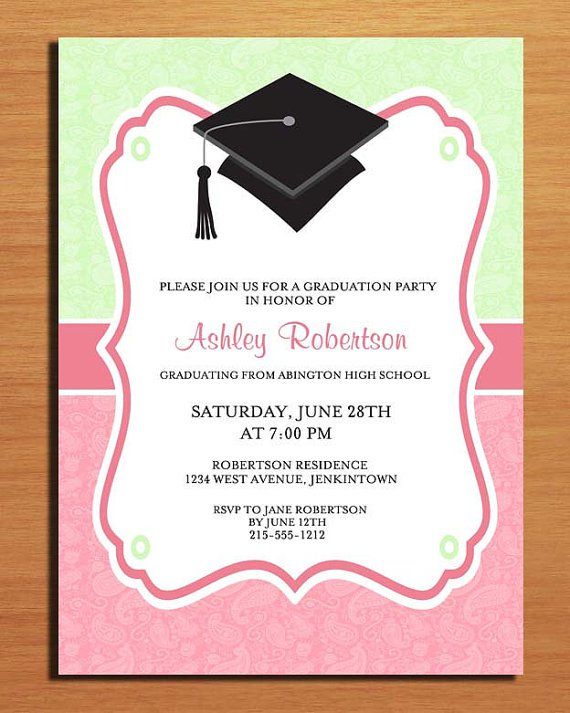 College Graduation Party Invitations Wording