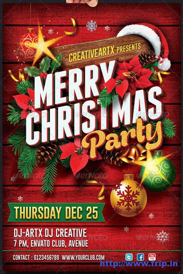 Company Christmas Party Flyer Invitation