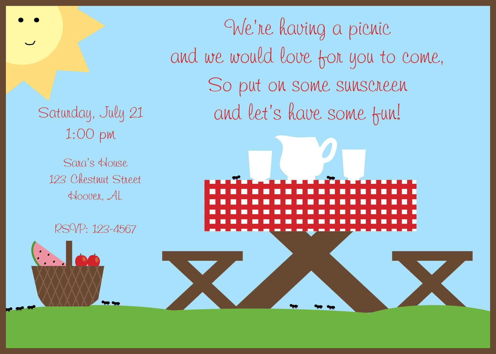 Company Picnic Invitation Wording Ideas