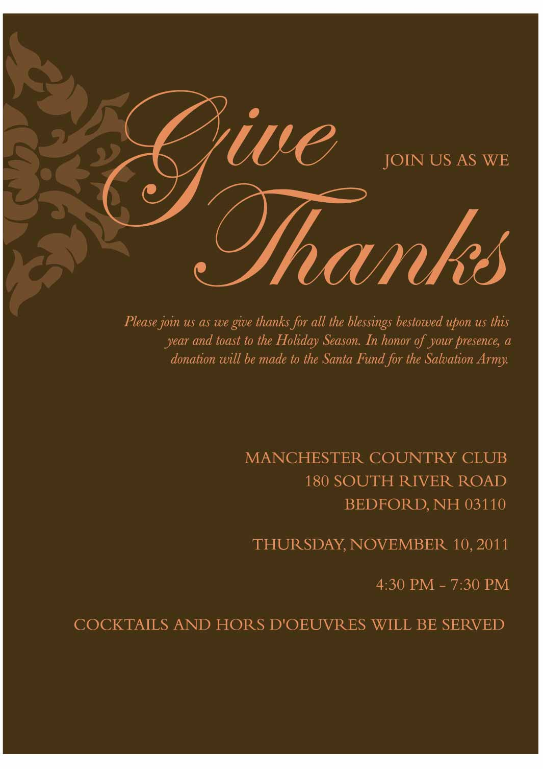 Company Thanksgiving Invitation