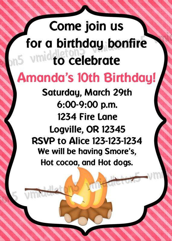Cool Bonfire Invitations