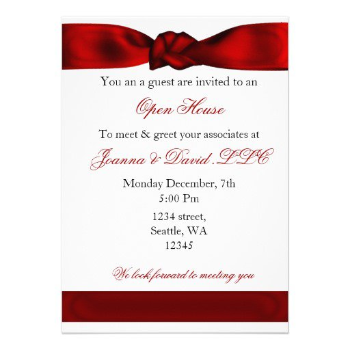 Corporate Holiday Dinner Invitation Wording