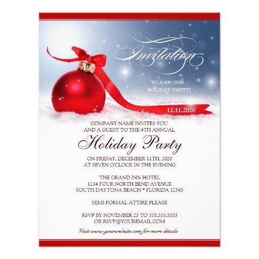Corporate Party Invitation Template