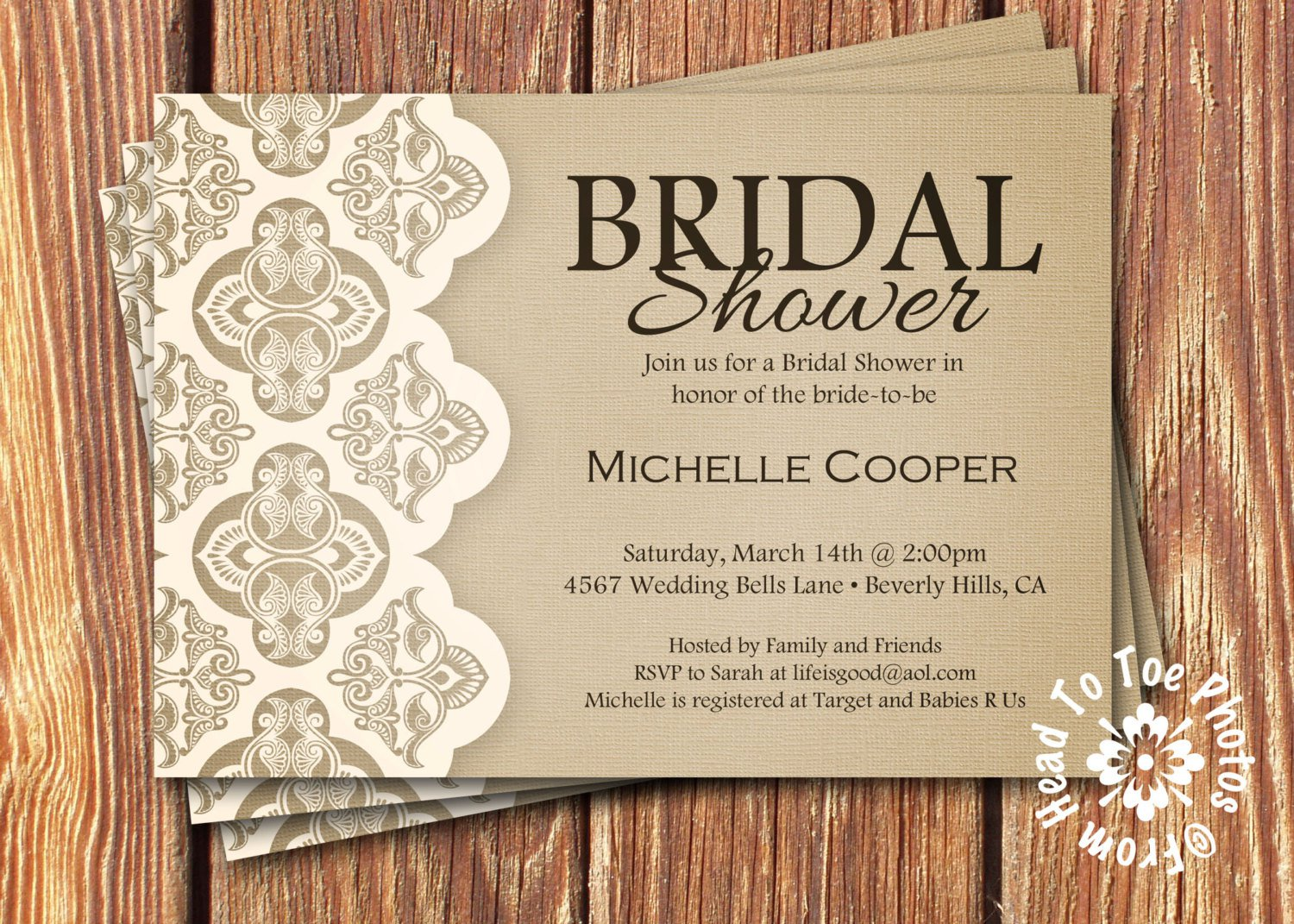 Country Bridal Shower Invitations Etsy
